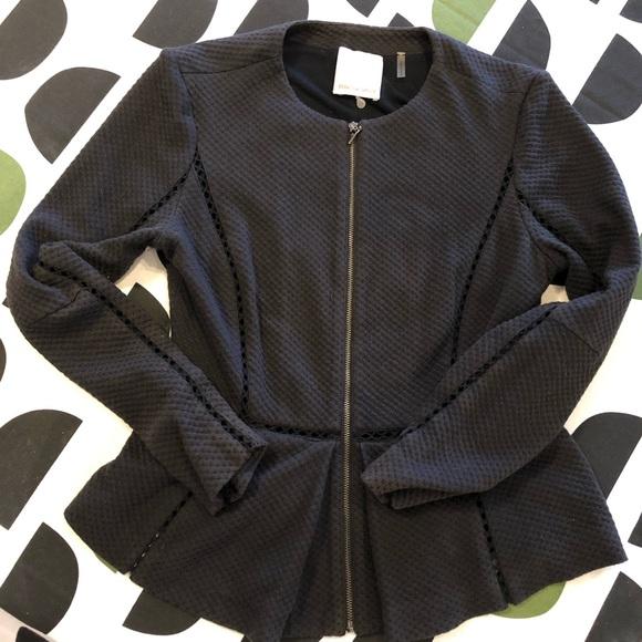 SALE🌟Rebecca Taylor Soft Black Peplum Jacket